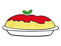 Spaghetti avec la sauce tomate. Photographie stock