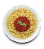 Spaghetti avec la sauce tomate Photos stock