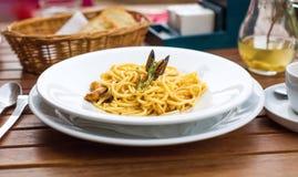 Spaghetti avec le vongole Images libres de droits