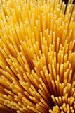 Spaghetti background. Abstract pasta background portrait of raw spaghetti Stock Photo