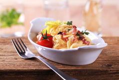 Spaghetti with bacon Royalty Free Stock Photography