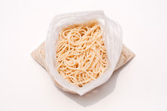 Spaghetti in a bag Royalty Free Stock Photo