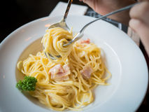 Spaghetti baleron fotografia royalty free