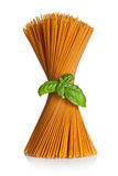 Spaghetti With Basil Royalty Free Stock Photo