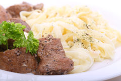 Spaghetti with beef Royalty Free Stock Photo