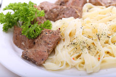 Spaghetti with beef Stock Photography