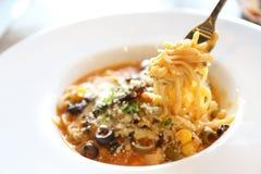 Spaghetti beef stew Stock Photos