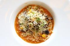 Spaghetti beef stew Stock Photo