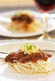 Spaghetti with beef and tomato sauce Royalty Free Stock Photo