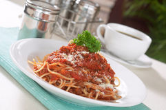 Spaghetti Bolończyk Obraz Stock