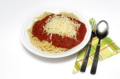 Spaghetti bolognaise. Stock Photos