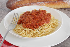 Spaghetti bolognaise Royalty Free Stock Photography