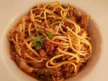 Spaghetti bolognese fotografie stock libere da diritti