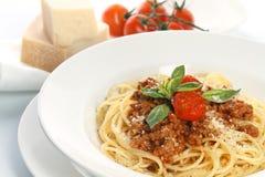 Spaghetti Bolognese. On white background Royalty Free Stock Image