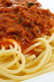 Spaghetti Bolognese. Close up of Spaghetti Bolognese an Italian Classic and favourite dish around the world Royalty Free Stock Photography