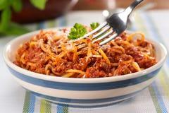 Spaghetti bolognese Royalty-vrije Stock Foto