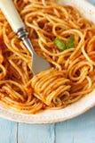 Spaghetti Bolognese. obrazy stock
