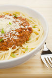 Spaghetti Bolognese. Bowl of Spaghetti Bolognese Royalty Free Stock Image