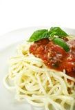 Spaghetti bolognese Fotografie Stock