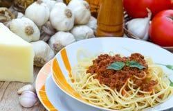 Spaghetti bolognese Immagine Stock Libera da Diritti
