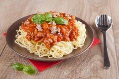 Spaghetti bolognese Fotografia Stock Libera da Diritti