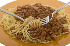 Spaghetti Bolognese Royalty Free Stock Photos