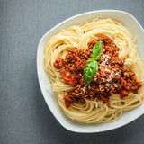Spaghetti Bolognese with beef mince Royalty Free Stock Images