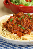 Spaghetti Bolognese or Bolognaise Stock Images