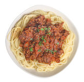 Spaghetti Bolognese or Bolognaise. Spaghetti bolognese with freshly ground pepper Royalty Free Stock Photo