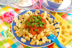 Spaghetti bolognese for child Stock Photo