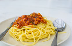 Spaghetti bolognese Royalty Free Stock Image