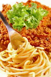 Spaghetti bolognese closeup Stock Image