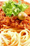 Spaghetti bolognese closeup Royalty Free Stock Photography