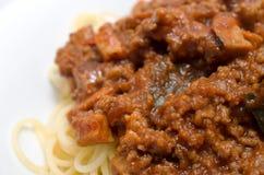 Spaghetti with a Bolognese Stock Photos