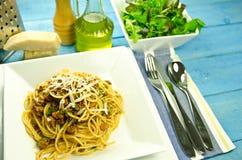 Spaghetti bolognese dinner Stock Image