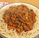 Spaghetti Bolognese Dinner Stock Photos