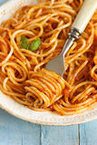 Spaghetti bolognese. Royalty Free Stock Images
