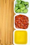 Spaghetti bolognese ingredient Stock Images