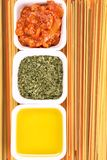 Spaghetti bolognese ingredients Stock Image
