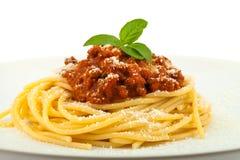 Spaghetti bolognese - Italiaanse keuken Royalty-vrije Stock Afbeelding