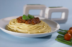 Spaghetti bolognese from Italy Royalty Free Stock Image