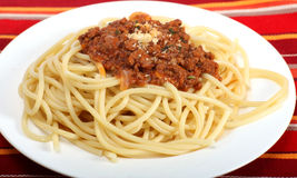Spaghetti bolognese meal Royalty Free Stock Images
