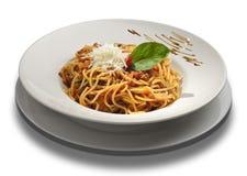 Spaghetti bolognese Royalty-vrije Stock Afbeelding