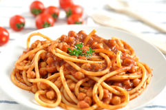 Spaghetti with bolognese Royalty Free Stock Images