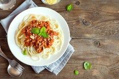 Spaghetti bolognese pasta Stock Photos