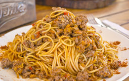 Spaghetti with Bolognese Sauce Stock Photography