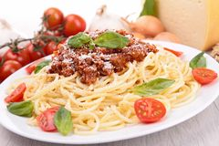 Spaghetti with bolognese sauce Royalty Free Stock Photos