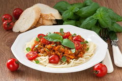 Spaghetti bolognese sauce Royalty Free Stock Images