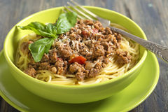Spaghetti with bolognese sauce. Royalty Free Stock Photo