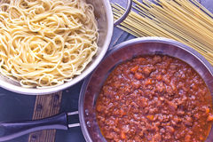 Spaghetti bolognese sauce Royalty Free Stock Image